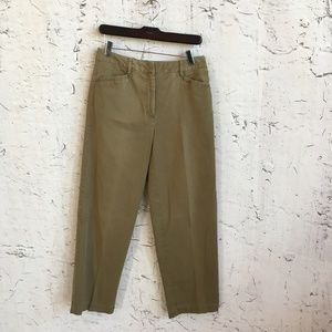 TALBOTS BROWN PANTS STRETCH  6